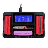 Seiwei YS-4 4-sleuf Lii AA AAA Ni-MH lithium Smart LCD 18650 22650 26650 18650 18350 14500 oplaadbare batterijlader_