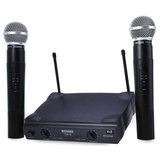 WEISRE PGX58 Omni-directioneel Draadloos Microfoon Systeem Dual Mic voor Karaoke Party KTV_
