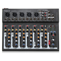 ELMPortable7-KanaalsProfessioneleLiveStudio Audio Mixer USB Mixing Console KTV DJ Karaoke
