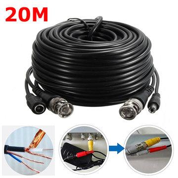 65Ft 20M Beveiligingscamera Kabel Video Uitbreidingsdraad CCTV DVR BNC RCA Cord