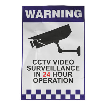 200x300mm Waarschuwing CCTV Security Surveillance Sticker Camera Stijf Plastic Teken