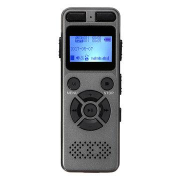 8 GB oplaadbare LCD Digitale Audio Geluid A tot B Herhaal dicteerapparaat dictafoon