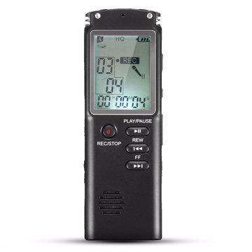 8GBdraagbareoplaadbaredigitaledictafoon met digitale audio voice recorder Met MP3 Play