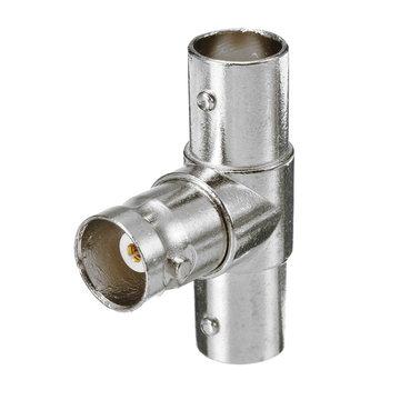 BNC T-adapter Splitter Connector Koppeling Mannelijk naar 3 Female Jack Plug voor CCTV Camera