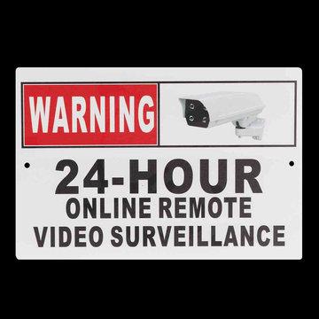 "30 x 20cm (12 ""x 8"") 24 uur online externe video surveillance beveiliging CCTV camera metalen bord decal"