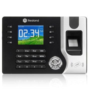 Realren A-C071 2.4 inch TCP / IP Fingerprint Attendance Access Control Time Clock Recording System