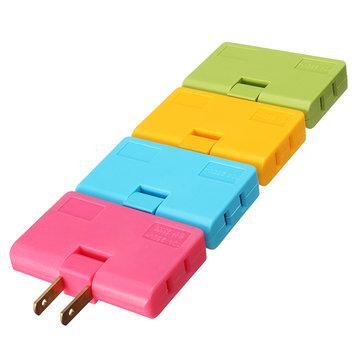 Kleurrijke 1 tot 3 US Plug Adapter Switch Flat Verstelbare Hoek