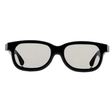 5 stks Zwart Ronde Gepolariseerde 3D Bril voor DVD LCD Video Game Theater TV Theater Movie