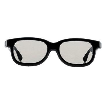 3 stks Zwart Ronde Gepolariseerde 3D Bril voor DVD LCD Video Game Theater TV Theater Movie