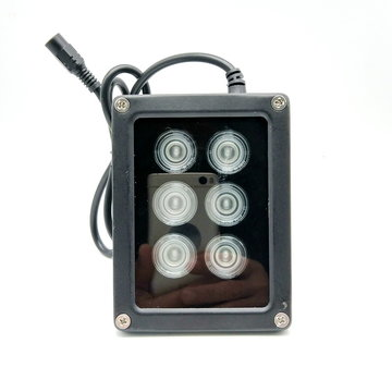 Mini CCTV IR Illuminator 850nm 6 stks Array Infrarood LED Lamp Licht IP67 Waterdichte Nachtzicht