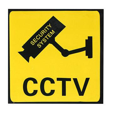 CCTV Bewakingscamera Sticker Waarschuwingsbord Beveiligingssysteem Beeldscherm