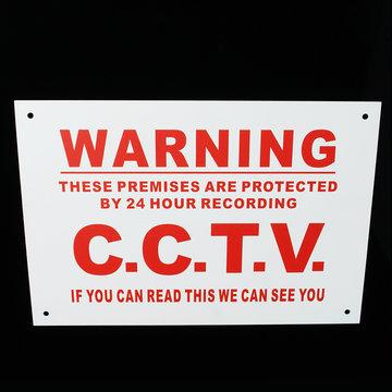A4 Waarschuwingsbord 24-uurs CCTV We kunnen u metalen sticker zien Veiligheidsbordje