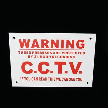 Camera Waarschuwingsbord A5 24 uur CCTV We kunnen je metalen sticker zien Veiligheidsbordje