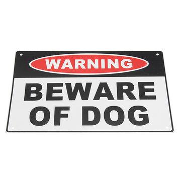 200x300mm Waarschuwing Pas op voor hond aluminium veiligheidswaarschuwing Huisdeur muursticker