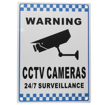 CCTV Waarschuwingssignaal Beveiliging Video Surveillance Camera Veiligheidssignaal Reflactive Metal