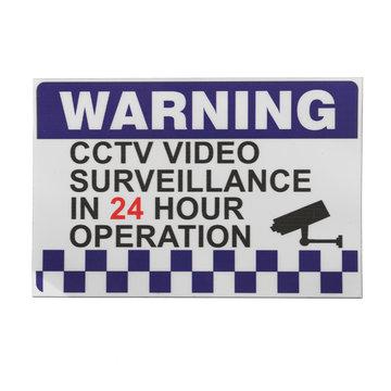100x150mm Interne Waarschuwing CCTV Security Surveillance Camera Decal Sticker