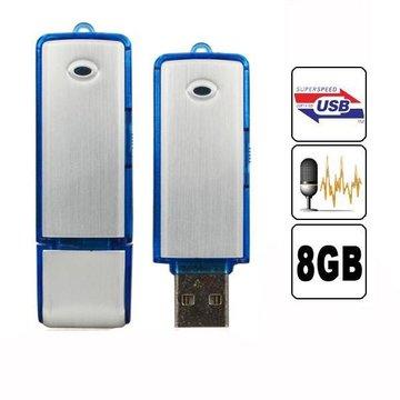 2in1Mini8GBUSB 2.0 Digital Voice Recorder Oplaadbare opname