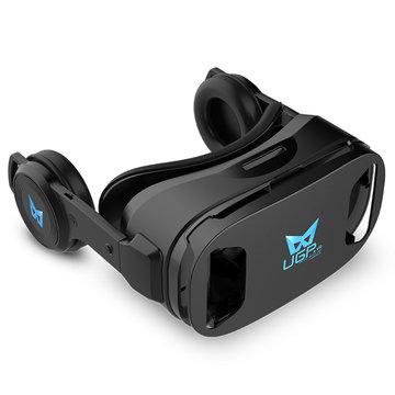 UGP U8 Virtual Reality VR-bril met oortelefoon voor iphone X 8 / 8Plus Samsung S8 Xiaomi mi5 mi6