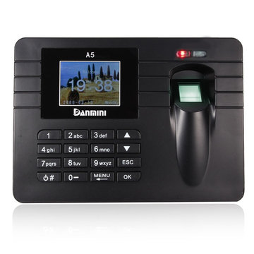 Time Recorder TFT Screen Clocking In Klok Machine Employee Attendance Controle Vingerafdruk + Wachtwoord Bulit-in Versterker