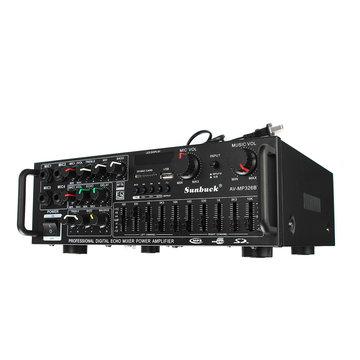 Sunbuck AV-MP326BT 220 V 800 W 4 ohm 2CH EQ Bluetooth Stereo Versterker Ondersteuning USB Disk Sd-kaart