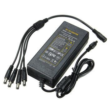 5.5x2.1mm Aangesloten Vermogenskabel CCTV met Lamp Verbindingslijn Adapter DC12V 4 5 6A