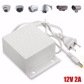 12V 2A DC AC Waterdichte Adapter Voeding Outdoor 5.5mmx2.5mm voor CCTV Security Camera LED Strip
