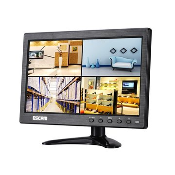 Escam T10 10 inch TFT LCD 1024x600 monitor met VGA HDMI AV BNC USB voor PC CCTV Security Camera