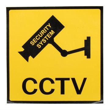 12 x 12 cm Monitoring Beveiligingscamera's CCTV Waarschuwingsbord