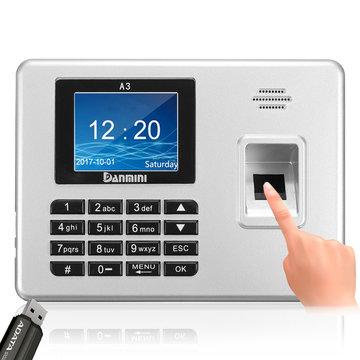 Danmini 2.8inch TFT Biometrische Fingerprint Wachtwoord Toegang Aanwezigheid Tijd Klok