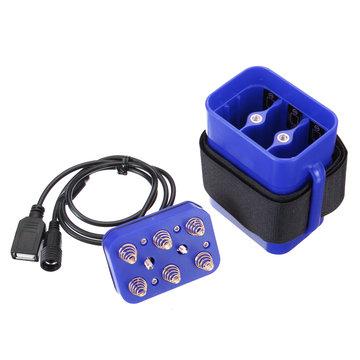 8.4 V 6X 18650 Waterdichte Batterij Case Huis Cover Voor Fiets Lamp DMG