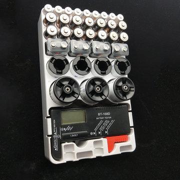 AAA AA 9v DC organisator batterijtest opbergdoos