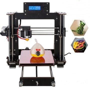 DIY Prusa I3 3D-printer 200 * 200 * 180mm Afdrukformaat Ondersteuning Off-line afdrukken 1,75 mm 0,4 mm mondstuk