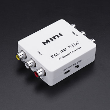 Mini PAL naar NTSC NTSC naar PAL P / N RCA Dual-Way Format TV Videosysteem Converter Composite