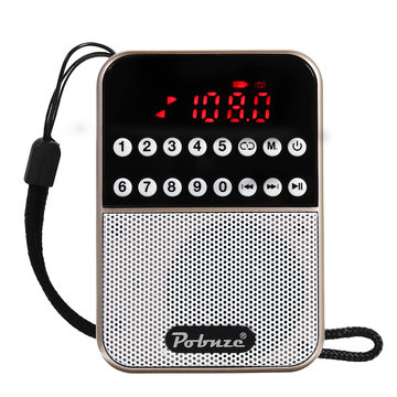 LCD Digitale FM Pocket Radio Speaker USB TF-kaart MP3-muziekspeler