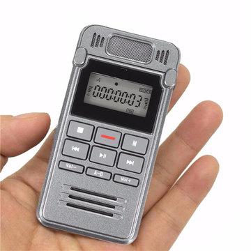 560uuropnametijdLCDDigitaleSpraak Oplaadbare Audio Smart Recorder Dictafoon Met MP3-speler