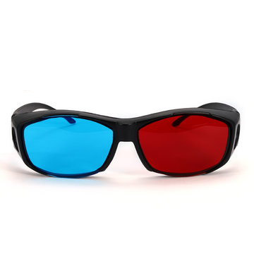 Rood Blauw 3D-bril Zwart frame voor dimensionale Anaglyph Movie Game DVD-projector