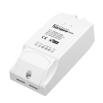 SONOFF® Dual Channel DIY WIFI Draadloze APP Afstandsbediening Schakelaar Socket Module AC 90-250V voor Smart Home