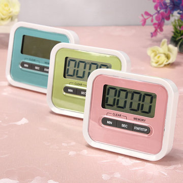 Mini LCD Digital Count Up Down Kitchen Cooking Magnetic Timer Alarm