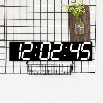 Afstandsbediening Oversize LED-wandklok 3D Groot scherm Digitale timer 6 cijfers Stopwatch Countdown-wekker