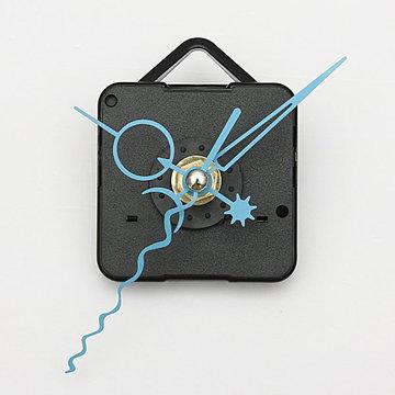 Blue Hands DIY Quartz Black Wall Clock Spindle Movement Mechanism