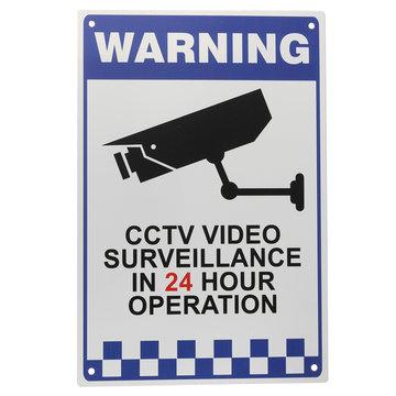 CCTV Waarschuwingsbord Sticker Veiligheid Video Surveillance Camera Veiligheid Sign Reflective Metal