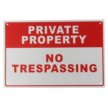Metaal Privé Bezit Geen Trespassing Veiligheidswaarschuwingsbord 4 Geboord Gat 20x30cm