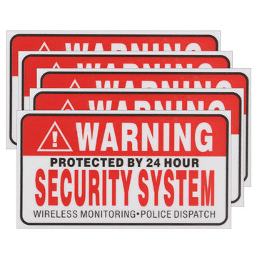 5 stuks zelfbevorderende camera CCTV sticker Safty Signs Decal beschermd door 24 uur beveiligingssysteem