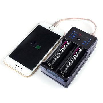 Palo NC572 2 Slot AA AAA Ni-Mh Ni-Cd oplaadbare batterijlader Power Bank