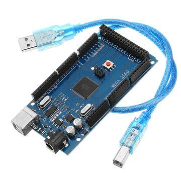 Geekcreit® Mega2560 R3 ATMEGA2560-16 + CH340-module met USB-ontwikkelbord voor Arduino