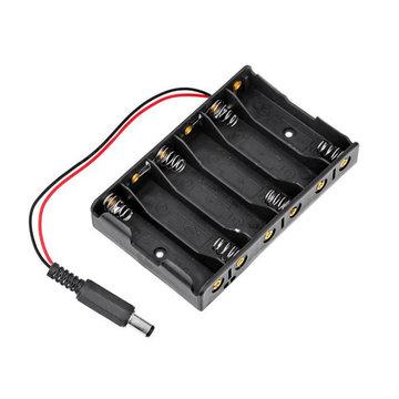 6 x AA batterijhouder opslaghouder met DC2.1 stekker voor Arduino