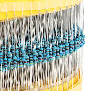 600pcs 30 Soort Waarde 1% 1 / 4W Metalen Film Resistor Assorted Kit 20pcs Elke Waarde