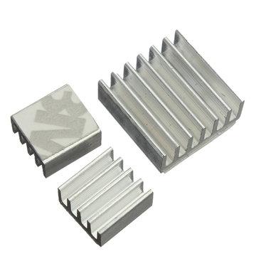 60st zelfklevende aluminium heatsink koeler kit voor koeling Raspberry Pi