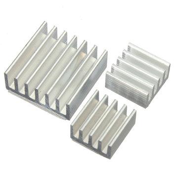 3pcs Lijm Aluminium Koelkit Koelkit Voor Koeling Raspberry Pi
