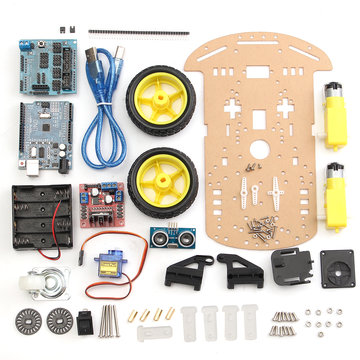 2 wielen Ultrasone Smart Robot Car Chassis Tracking Car Kit voor Arduino
